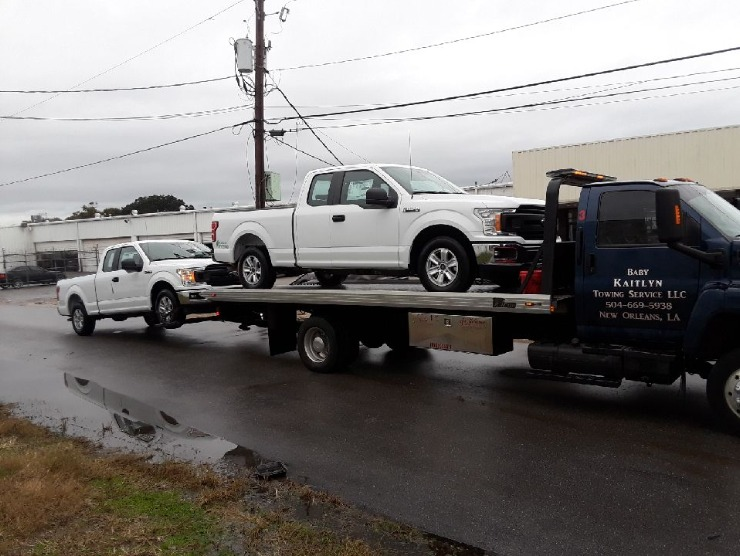 Truck Being Pulled by Towing Service, New Orleans, LA
