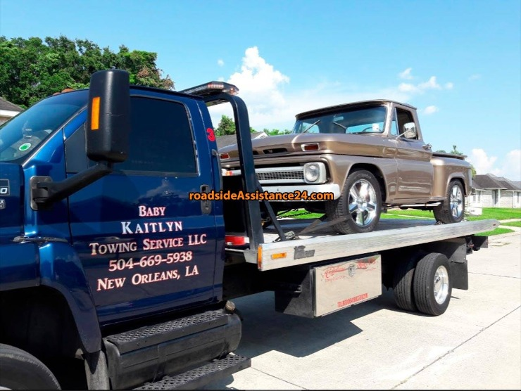 Truck Being Towed by Towing Service, New Orleans, LA